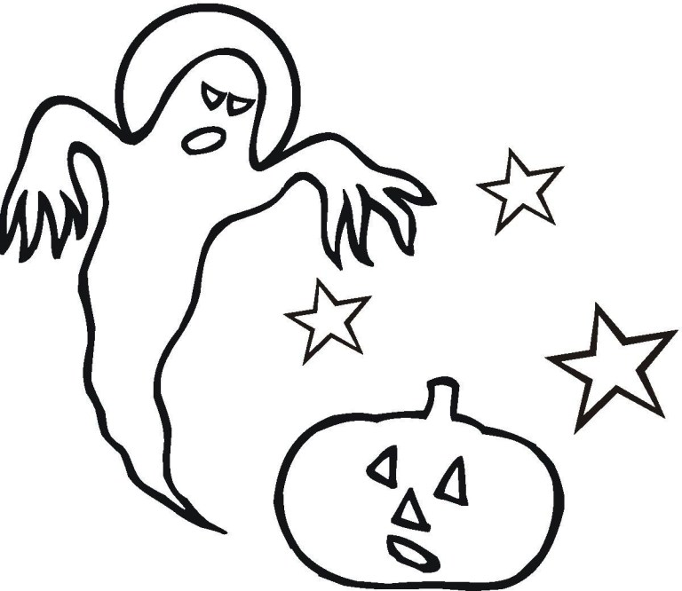 cute ghost coloring pages to Print