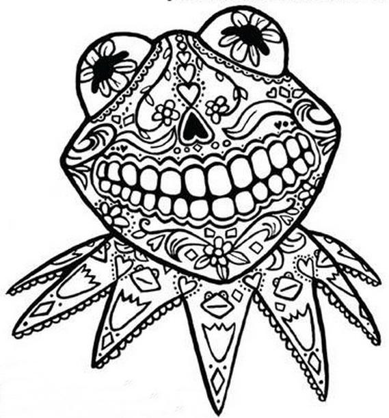 Dia De Los Muertos Coloring Pages Printable