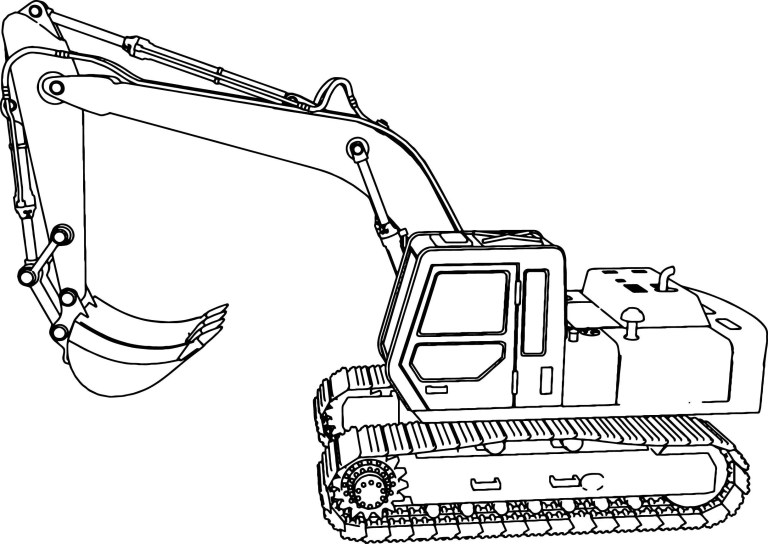 Digger Colouring Pages