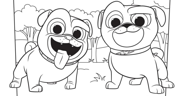 Disney Dogs Coloring Pages