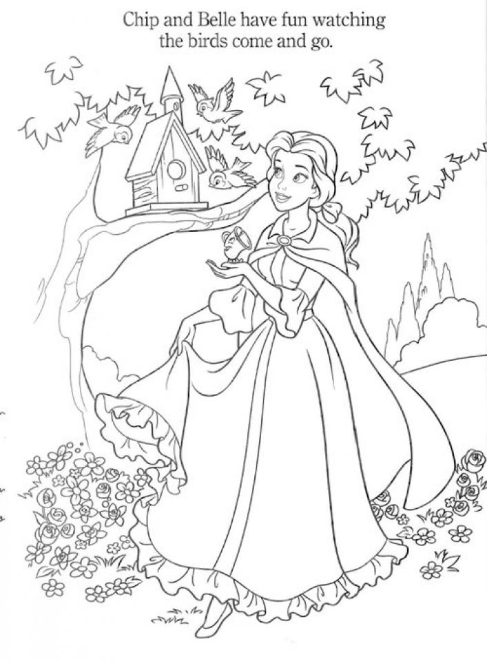 Disney Princess Coloring Pages Belle