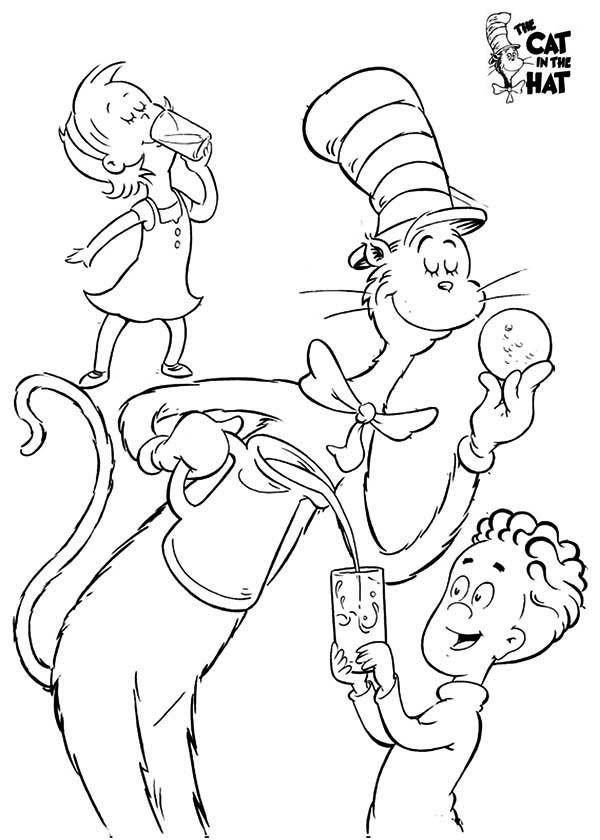 Dr.Seuss Hats Coloring Pages