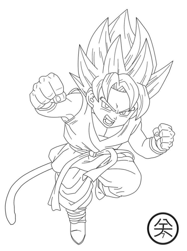dragon ball z colouring pages