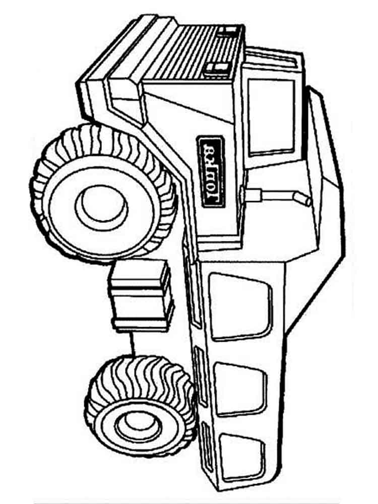 dump truck coloring pages free printable online