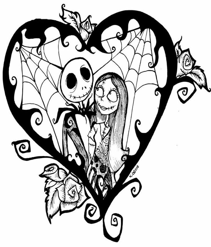Easy Jack And Sally Drawings