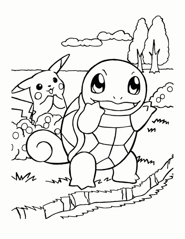 Easy Pokemon Coloring Pages