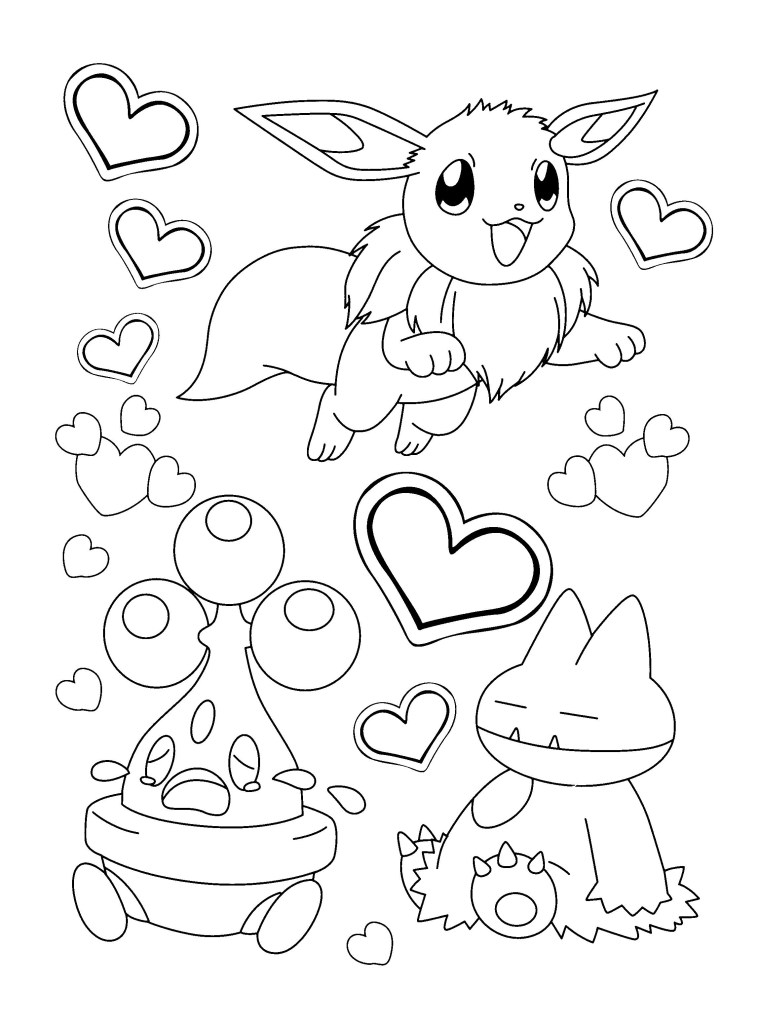 Evee Coloring Page
