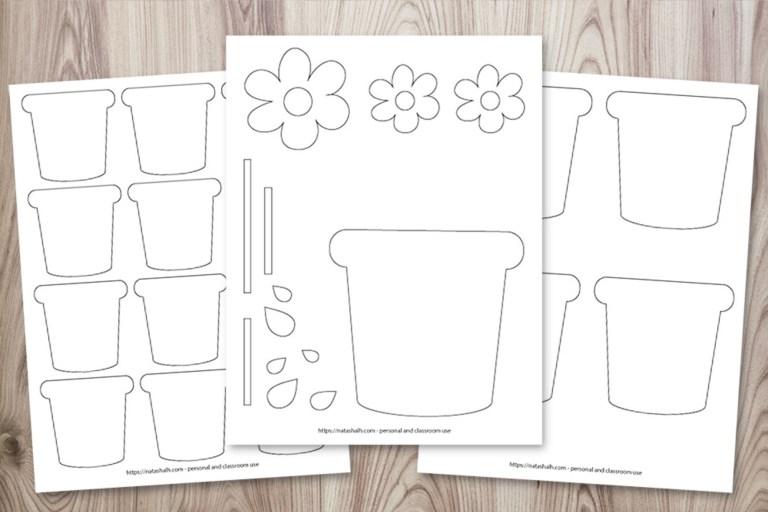 Flower Pot Coloring Pages