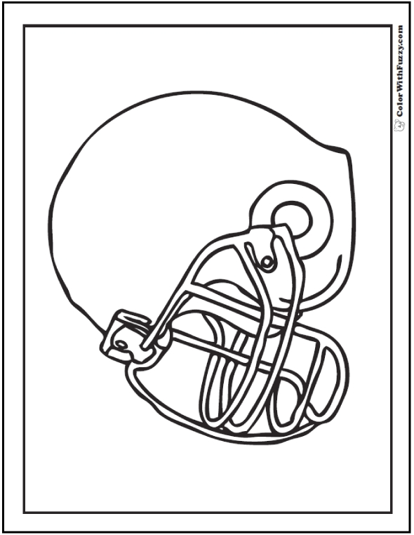 Football Helmet Coloring Pages To Print