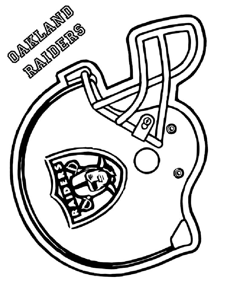 Football Helmet Coloring Sheet