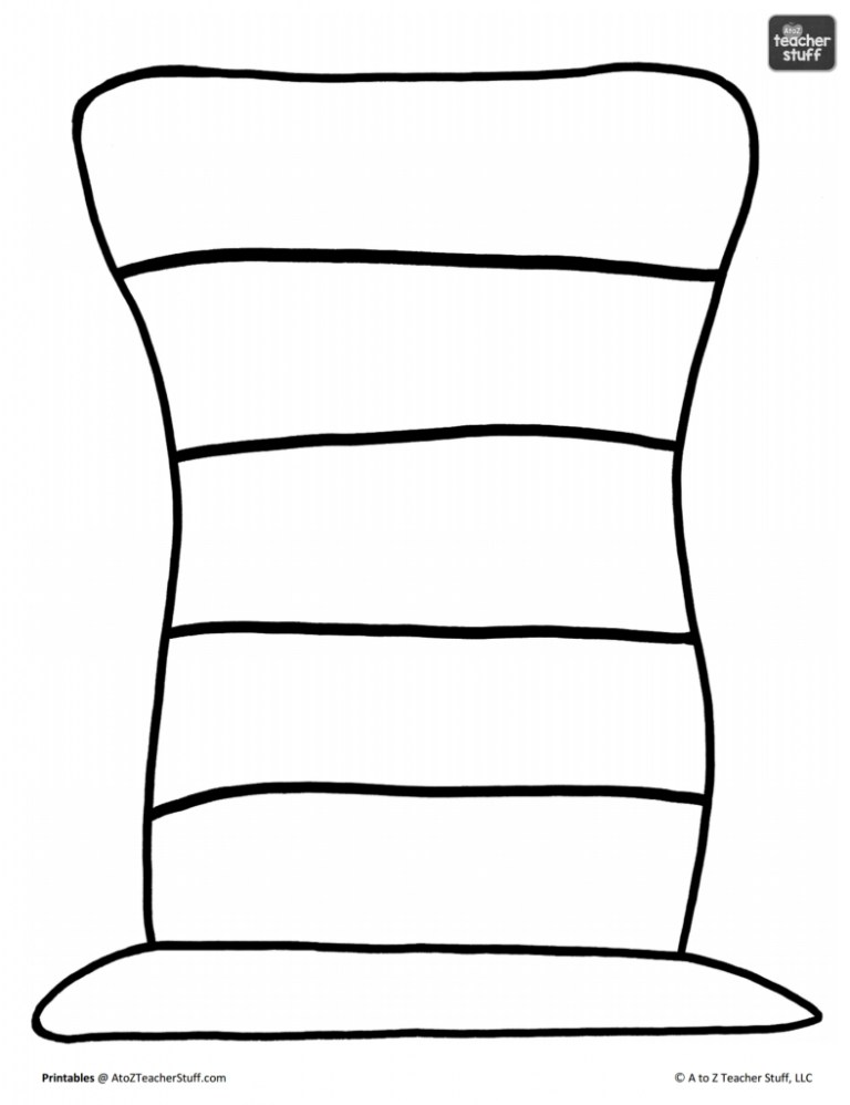 Free Cat In The Hat Coloring Pages