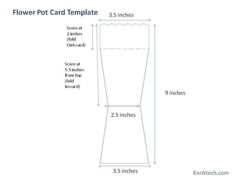 Free Flower Pot Template Printable