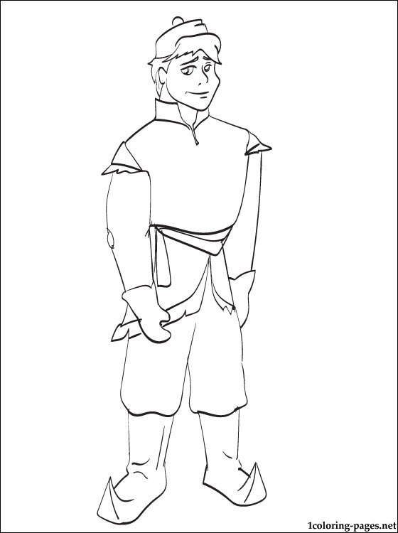 free kristoff frozen coloring pages