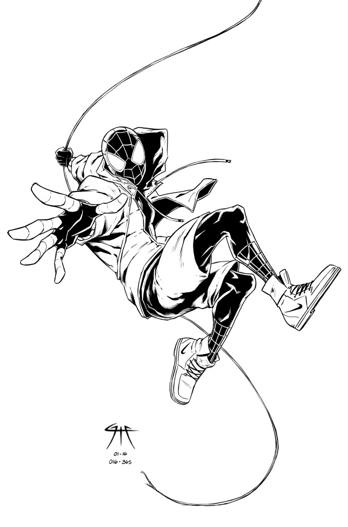 Free Miles Morales Coloring Page