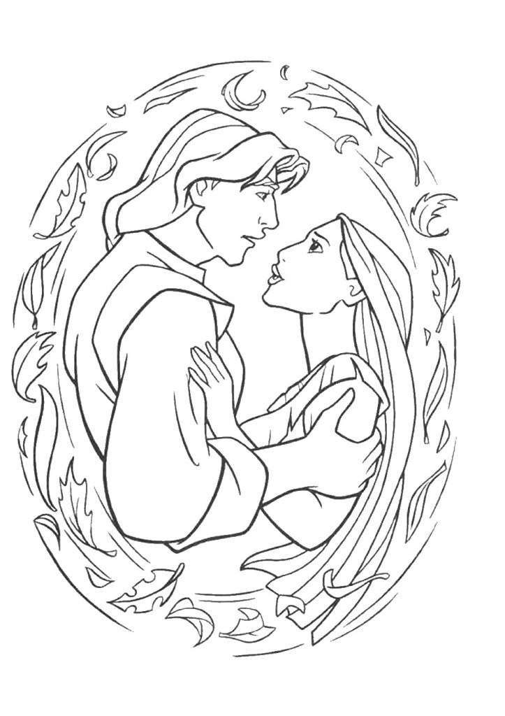 Free Pocahontas Drawing Coloring
