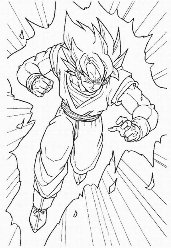 free printable dragon ball z coloring pages