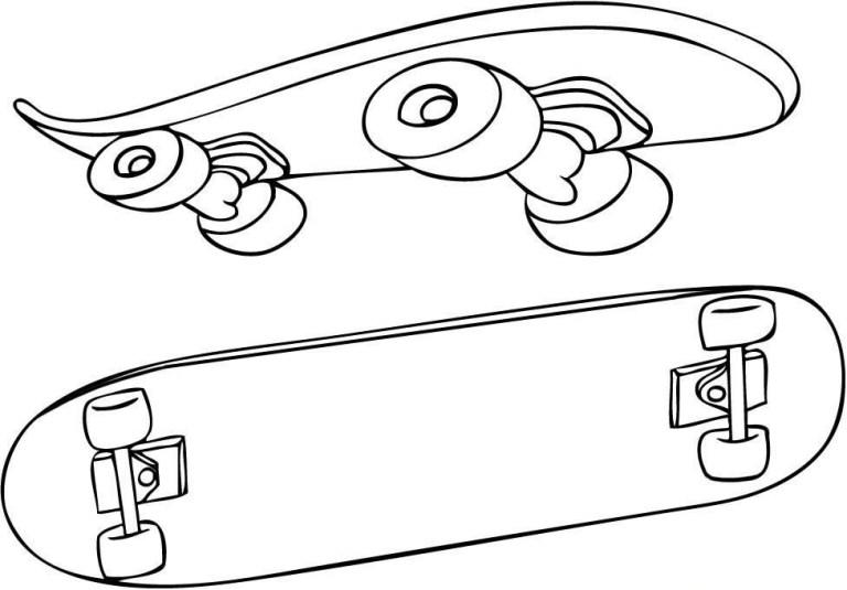 Free Skateboard Coloring Sheets