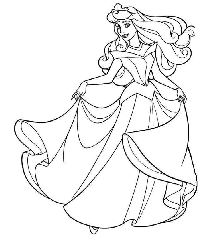 Free Sleepy Beauty Coloring Pages