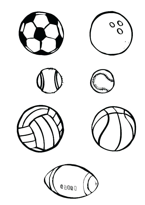 Free soccer ball colouring page