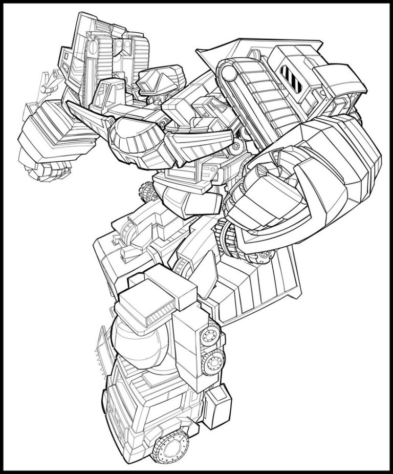 Free Transformers Colouring Sheets