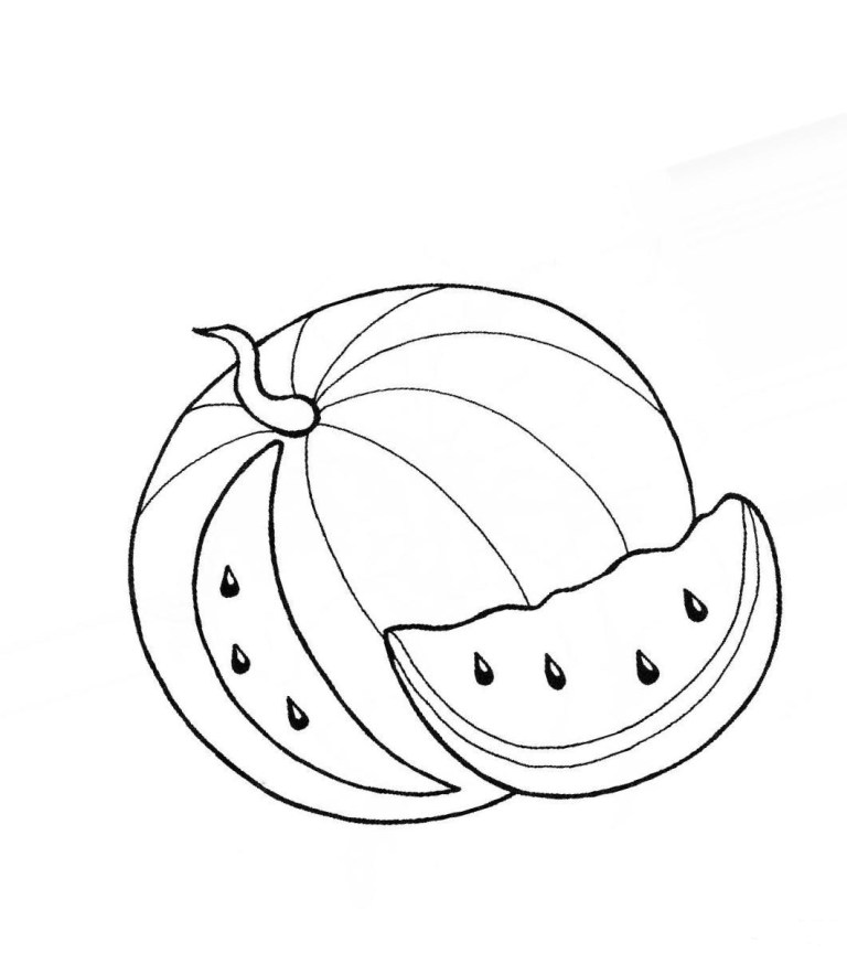 Free Watermelon Coloring Pages