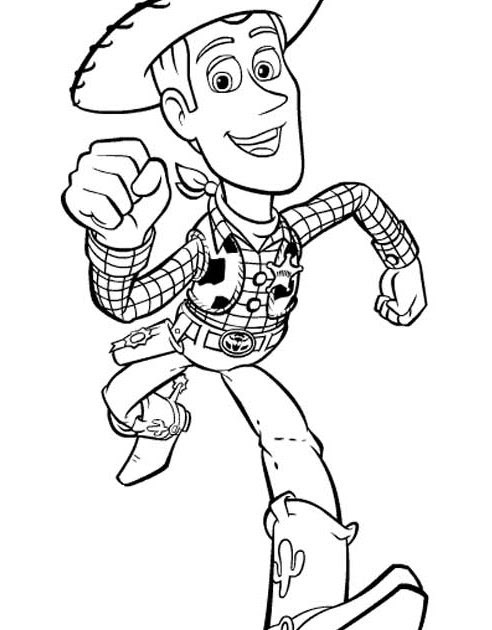 Free Woody Toy Story Coloring Pages