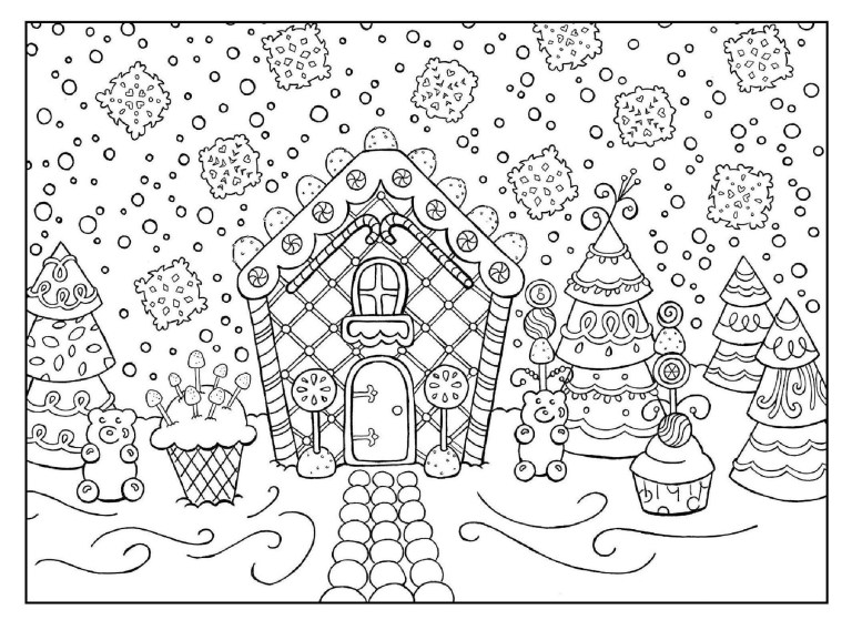 Gingerbread Woman Coloring Pages
