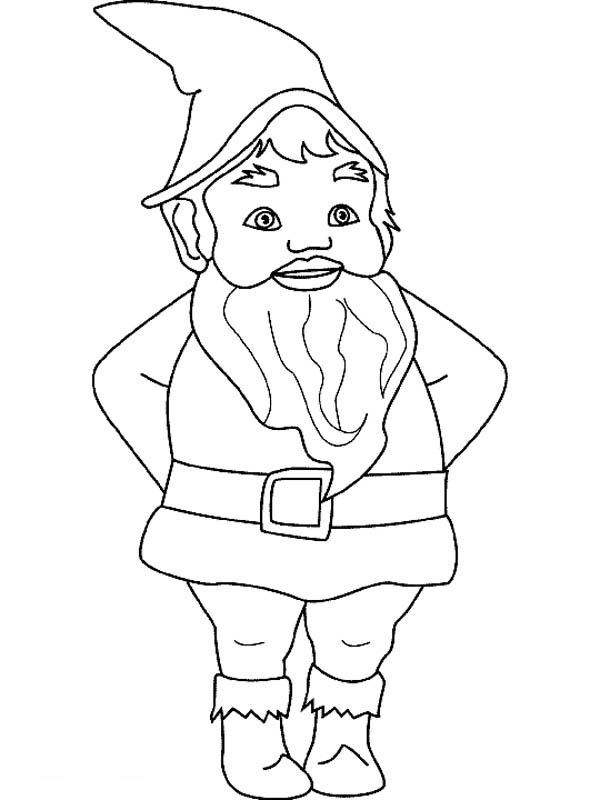 Gnome Coloring Pages Free