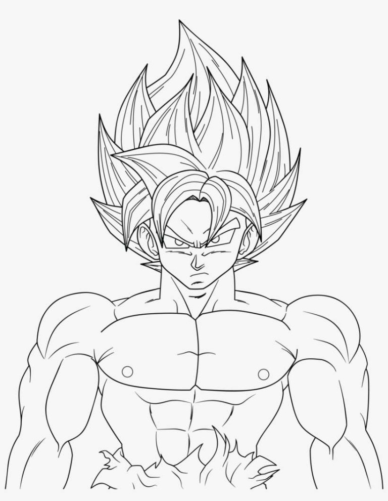 goku ultra instinct coloring pages
