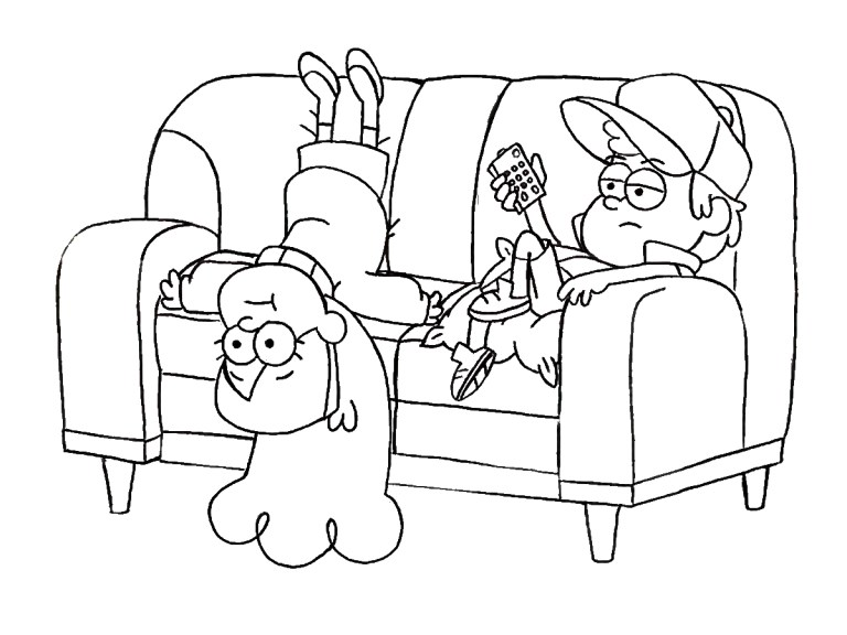 Gravity Coloring Page