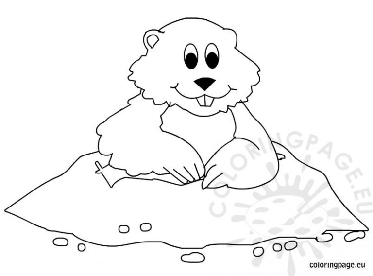 Ground Hog Coloring Picture
