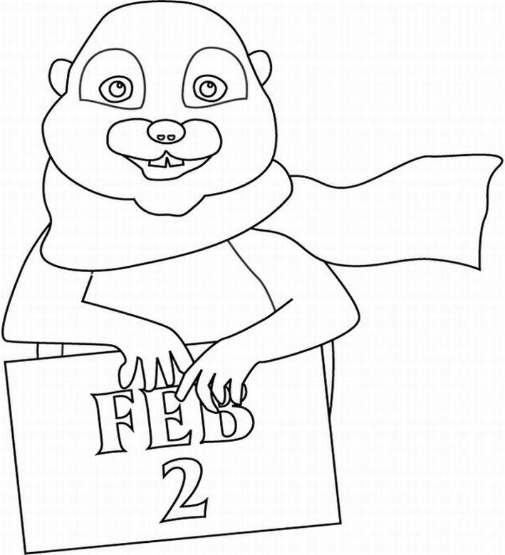 Groundhog Coloring Page Preschool