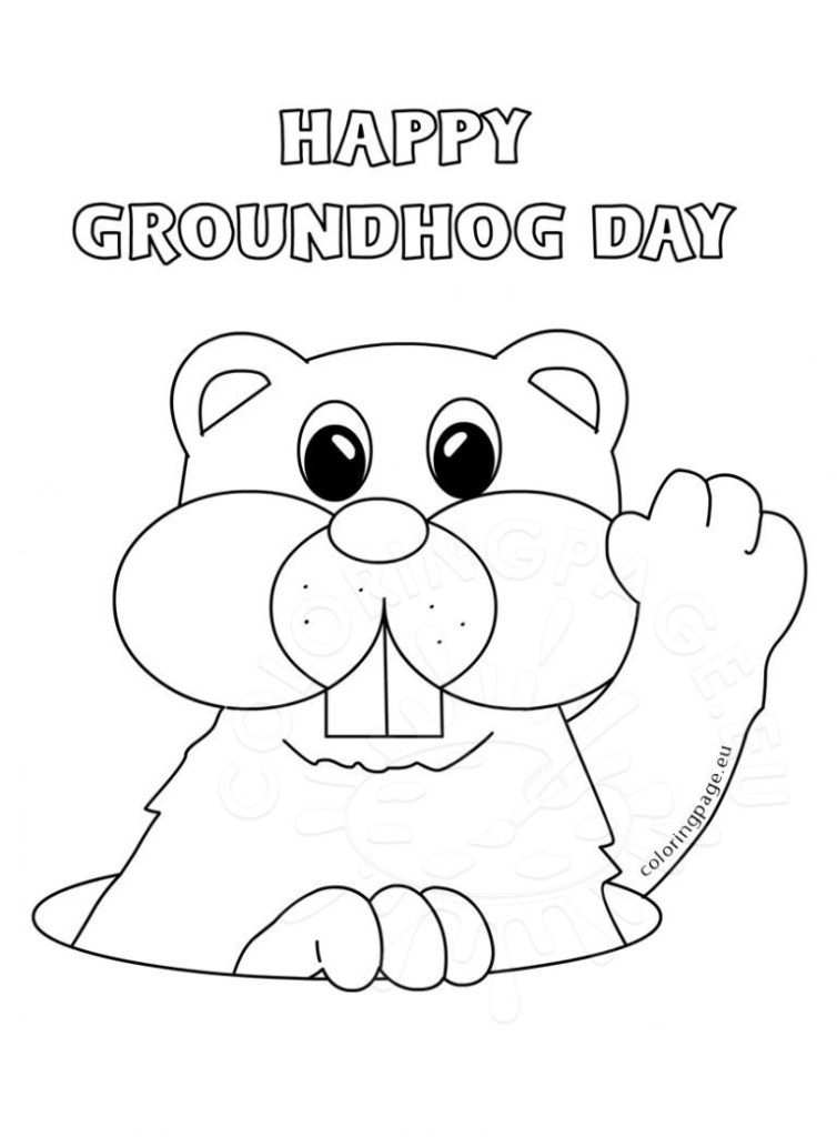 Groundhog Coloring Picture