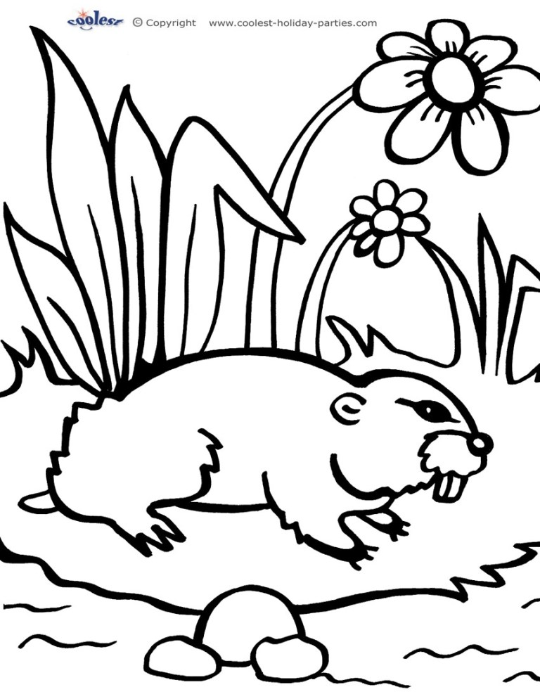 Groundhog Day Coloring Pages To Print