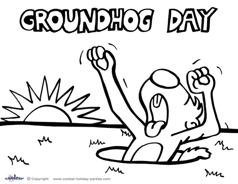 Groundhog Day Coloring Pictures