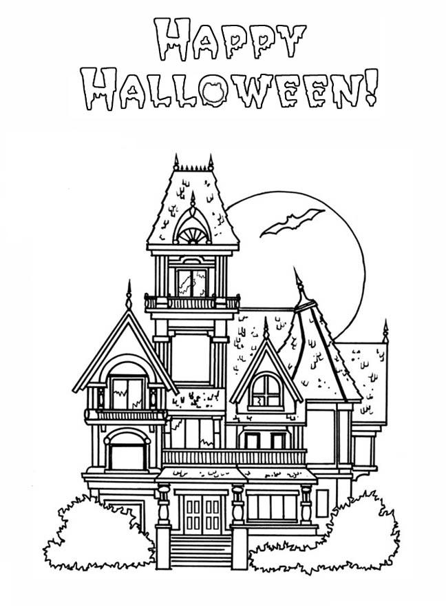 Halloween Haunted House Printable