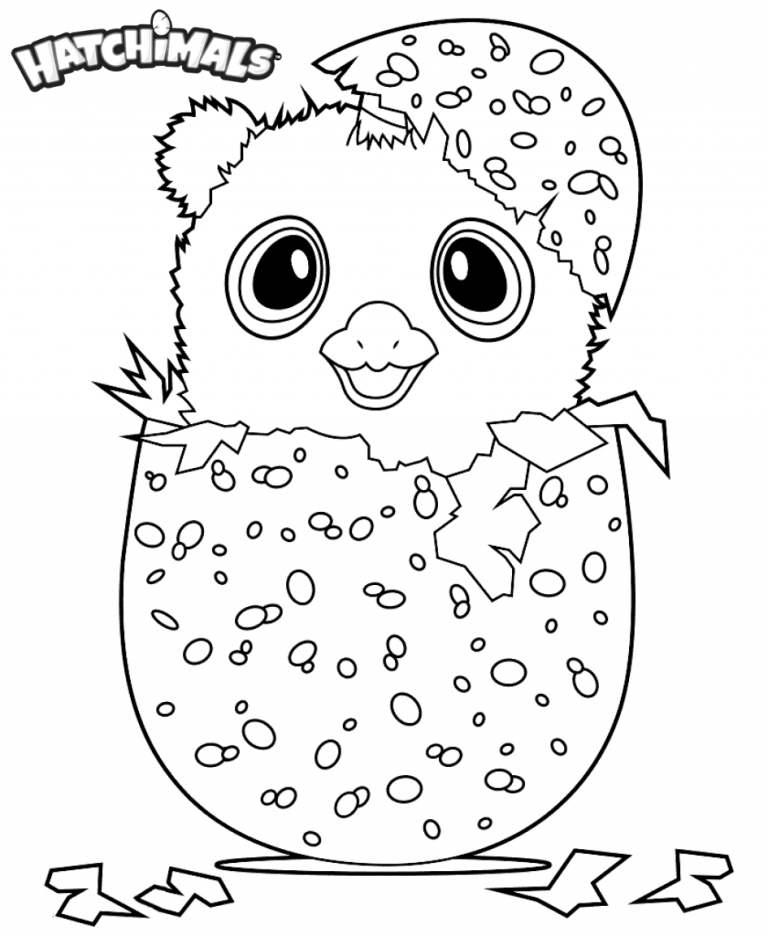 Hatchimal Coloring Page