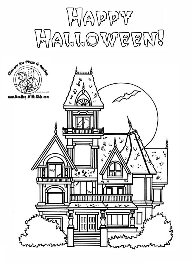 Haunted House Color Pages