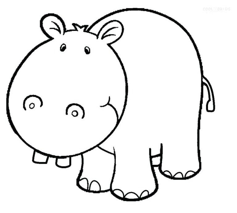 Hippopotamus Pictures To Color