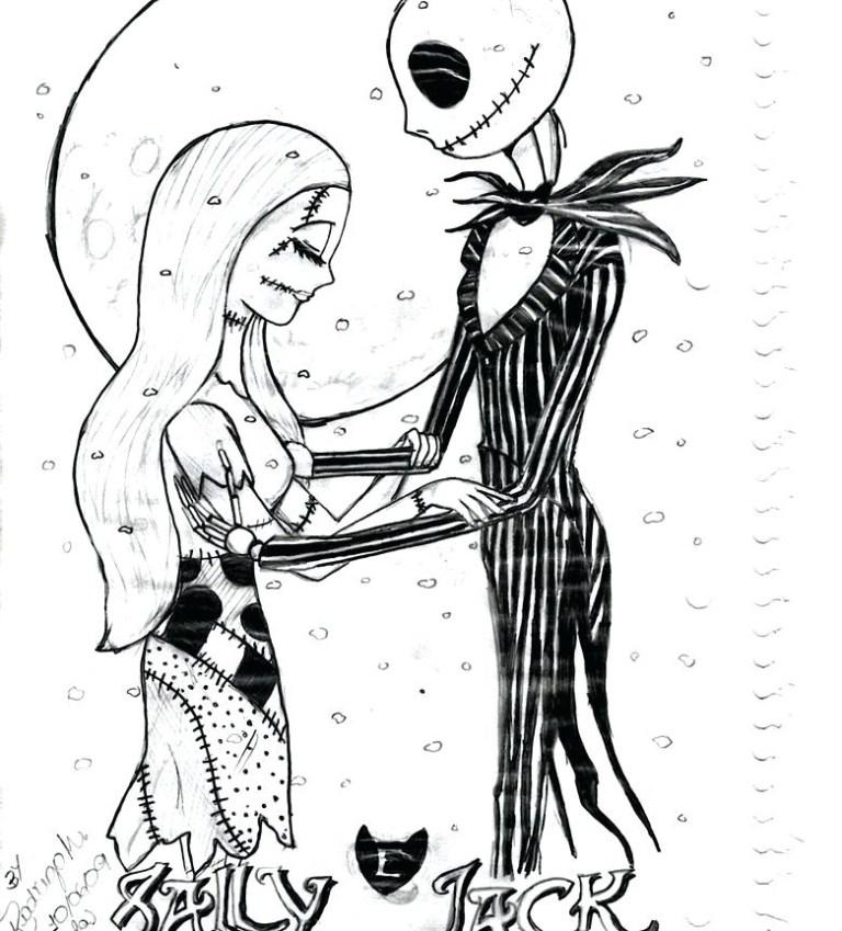 Jack Skellington Printable Coloring Pages