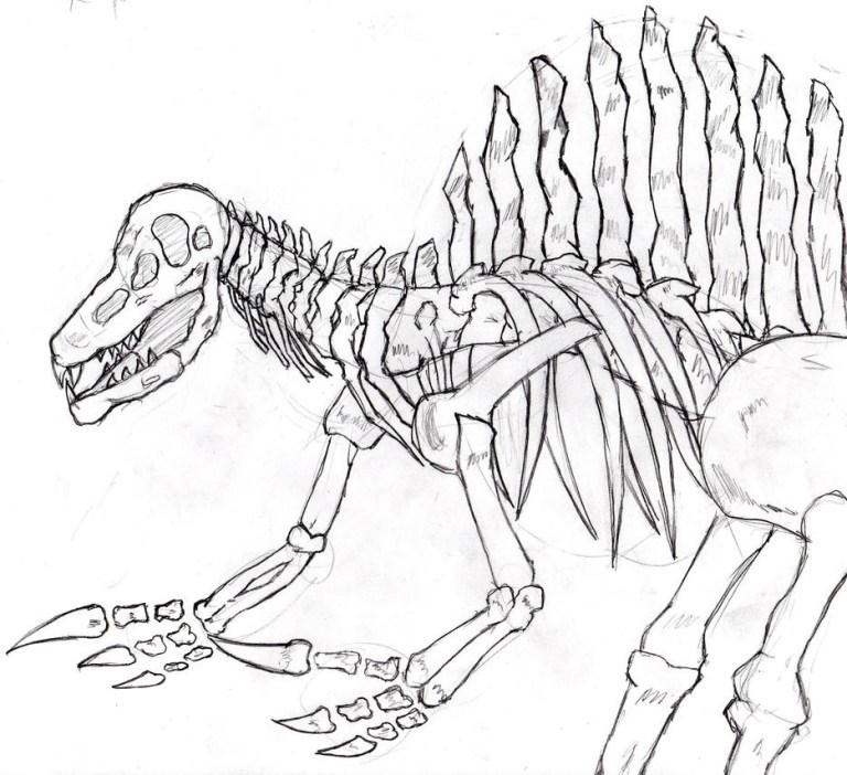 Jurassic Park Spinosaurus Coloring Pages
