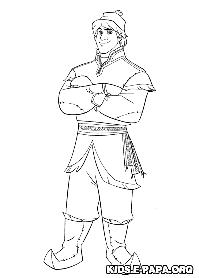Kristoff Coloring Pages for Kids