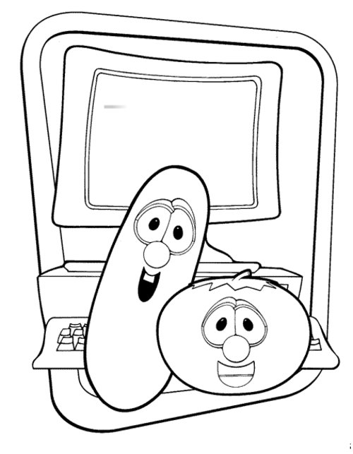 Larryboy Coloring Page