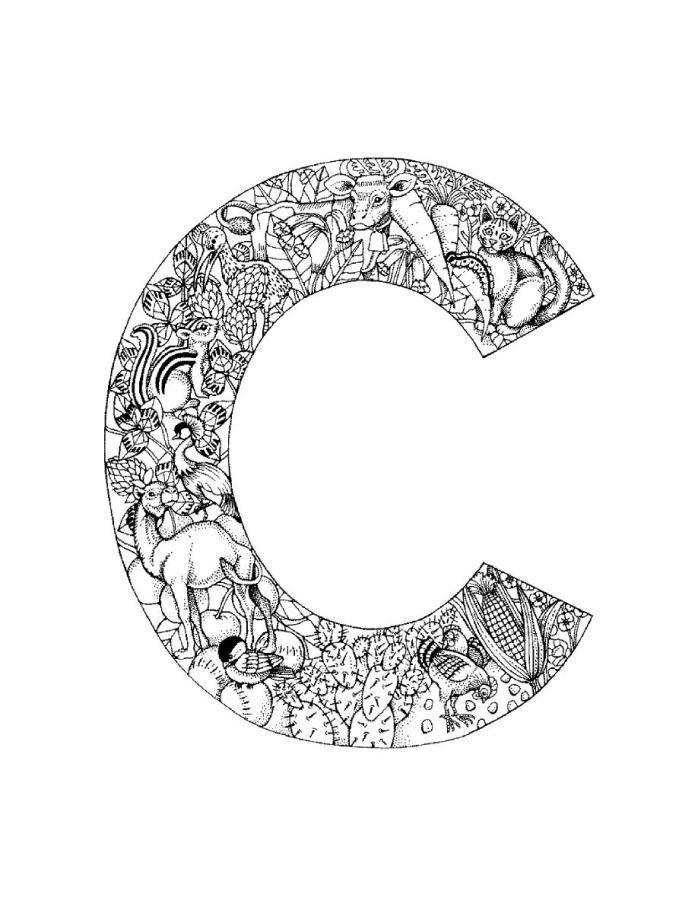 Letter C Coloring Worksheets