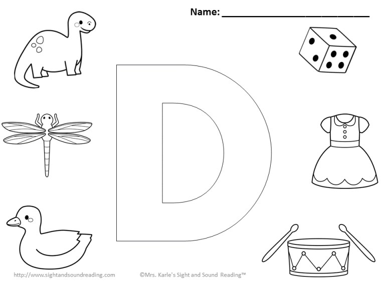 Letter D Coloring Pages For Adults