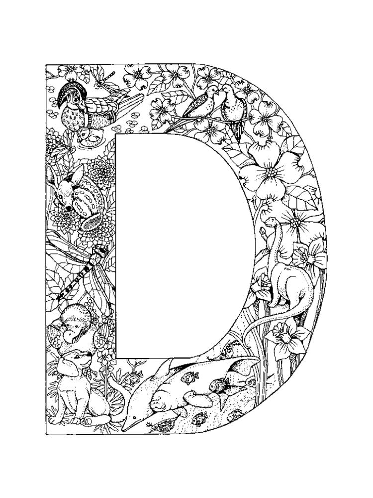 Letter D Coloring Pages For Toddlers