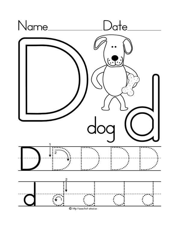 Letter D To Color