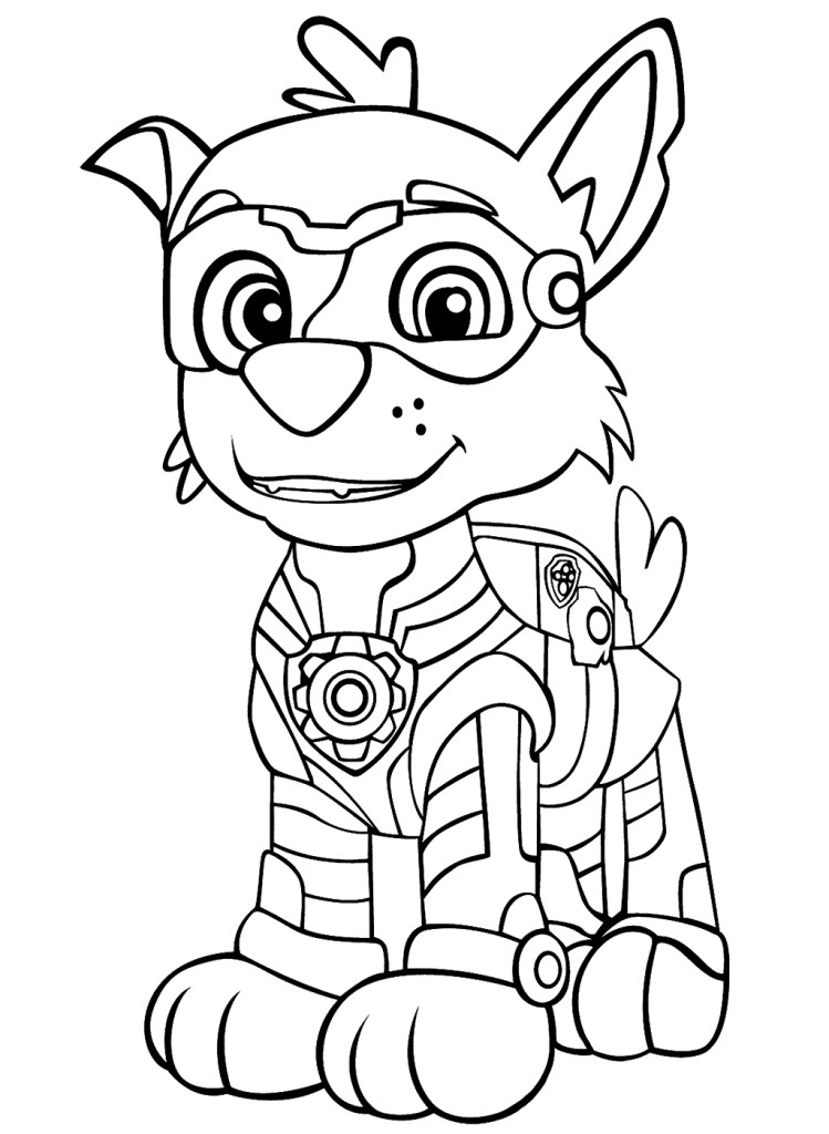 Mighty Pups Chase Coloring Pages