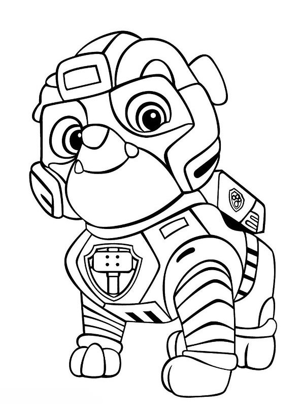 Mighty Pups Ryder Coloring Pages
