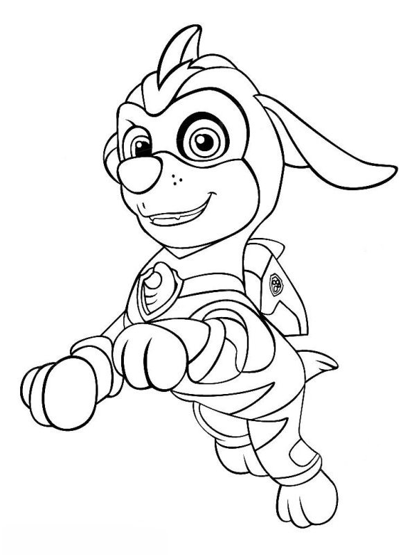 Mighty Pups Skye Coloring Pages